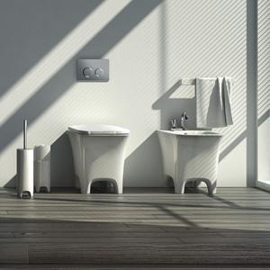 Sedile Wc Copriwater per modello Cow bianco opaco marca Art Ceram