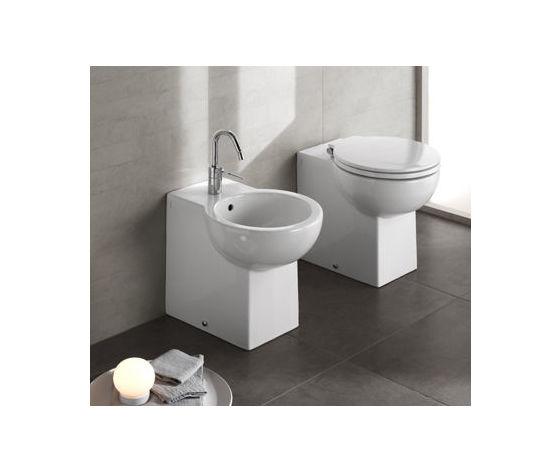 Copriwater sedile coprivaso per sanitari bagno Easy Bath Cielo Ceramica BIANCO